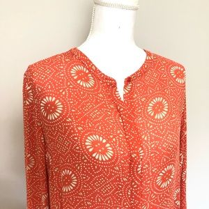 Lucky Brand Tops - Lucky Brand Top Tunic Geometric Floral High Low